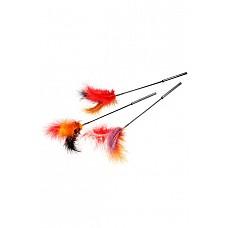 Стек с натуральными перьями черный  Щекоталка с натуральными перьями.