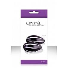 Вагинальные шарики CRYST`AL KEGEL EGGS из стекла черные  Вагинальные шарики Кегеля в форме яиц для укрепления влагалищных мышц и возбуждения.