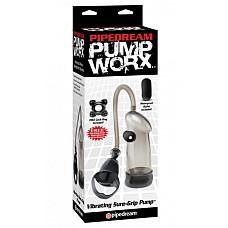 Помпа Vibrating Sure-Grip 326823PD  Вакуумная  помпа необычной формы, повторяющая все линии и очертания вашего полового члена.