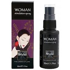 Стимулирующий спрей для женщин, 50 мл  Спрей предназначен для усиления чувствительности во время полового акта, обладает возбуждающим эффектом.