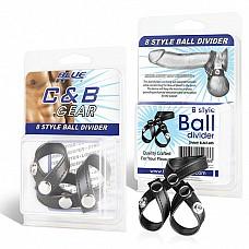 Разделитель мошонки из искусственной кожи на клепках 8 STYLE BALL DIVIDER BLM1685  Разделитель мошонки из качественный искусственной кожи на клепках.