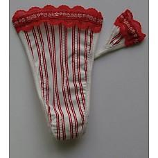 Трусики на липучке в красную полоску, XS  Впервые в России стринги без тесемок на липучке! Эти трусики завоевали большую популярность в Америке, т.