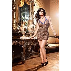 Animal Мини-платье D (52-54), леопард  Это чудесное маленькое платье с леопардовым рисунком удовлетворит даже самый взыскательный вкус.