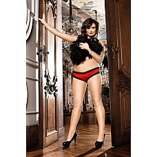 Spanish Трусики женские D (52-54), красный  Приятные на ощупь и на вид — соблазнительные шортики красного цвета из приятного в носке микроволокнистого материала окантованы кружевом черного цвета, прекрасно завершающим образ.