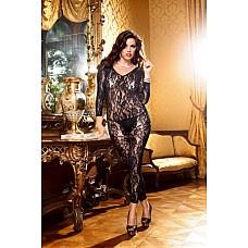 Mafia Чулок на тело Q (50-52), черный  Смелый боди-комбинезон насыщенного черного цвета соблазнительно подчеркнет фигуру благодаря облегающему силуэту, длинным рукавам и вырезам в области ног.