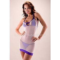 Платье L10.010 D2U  Сексуальное мини-платье для пляжа из эластичной, крупной сетки.