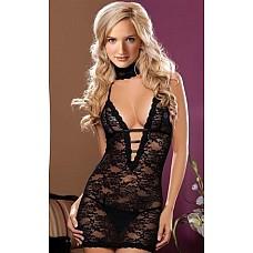Платье кружевное черное One Size 02568OS  Платье кружевное черное.
