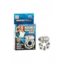 Эрекционное вибро-кольцо Waterproof Maximus Enhancement Ring  с 10-ю металлическими шариками  Эрекционное вибро-кольцо Waterproof Maximus Enhancement Ring  с 10-ю металлическими шариками для максимальной эрекции Вашего друга и стимуляцией клитора для Вас! Кольцо на пенис с 10 металлическими шариками, есть петля для мошонки.