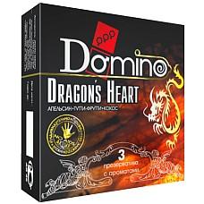 Презервативы Domino Dragon`s Heart №3  DOMINO-это универсальный презерватив, обладающий такими качествами, как высокая эластичность, прочность и максимальная безопасность при использовании.