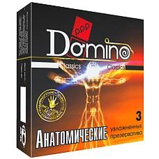 Презервативы Domino Анатомические №3  Презервативы анатомической формы, точно повторяют форму члена, мало заметны и не сползают во время использования.