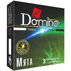Презервативы Domino Мята №3  DOMINO-это универсальный презерватив, обладающий такими качествами, как высокая эластичность, прочность и максимальная безопасность при использовании.