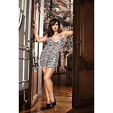 Animal Мини-платье D (52-54), зебра  Это чудесное маленькое платье с рисунком «под зебру» удовлетворит даже самый взыскательный вкус.
