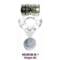 Прозрачное эрекционное кольцо с вибратором и стимуляцией клитора  Вибрирующее эластичное кольцо для члена с дополнительным стимулятором клитора. Предназначено для максимального увеличения чувствительности и продолжительной эрекции. Работает от 2 батарей микро.