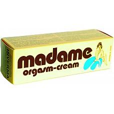 Крем Madame Orgasm для женщин  Возбуждающий крем с нежным приятным запахом. Нежно массажируя нанесите его на интимную зону и ощутите прилив возбуждения! Прилив возбуждения от этого крема разбудит даже самую холодную женщину! Крем помогает достичь оргазма и ярче его ощутить. Крем нежно ухаживает за Вашими половыми органами и Ваша красивая Мадам возбудит даже самого холодного и ленивого партнера!