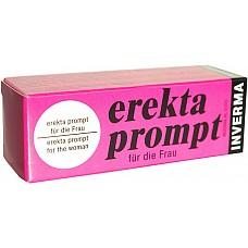 Крем Erekta Prompt для нее  Erekta Prompt - возбуждающий крем для женщин. Усиливает клиторальную и влагалищную чувствительность, соответственно усиливая эффект оргазма.