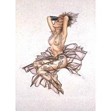 Комплект Страсть и Кружево из коллекции Оливия  В комплект входит: колготки в цветочек, перчатки и вуаль