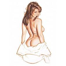 Белый комплект Pick-a-Boo из коллекции Оливия  В комплект входит: белая комбинация и искусственная сигара.