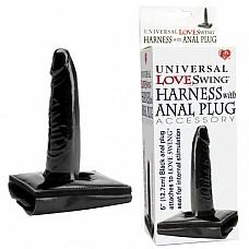 Черный анальный плуг для любовных качелей 0303-7 BX TS  Дополнительный девайс к эротическим качелям из 2 предметов.