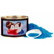 Соль для ванной *Афродизия*  Стоит добавить щепотку этой поразительной соли Мертвого моря, и вода в ванной приобретет волшебный голубой оттенок. Плавающая ароматическая свеча, которая входит в комплект, а также аксессуары-ракушки создадут атмосферу невероятной романтики. <br><br> Почувствуйте расслабляющее и смягчающее действие морской воды, отдохните душой и омолодите тело!