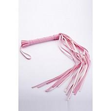 Плеть розовая  Гладкая плеть (флоггер) изготовлена из искусственной кожи.