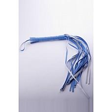 Плеть голубая  Гладкая плеть (флоггер) изготовлена из искусственной кожи.