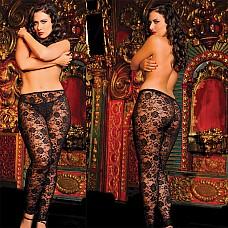 Черные соблазнительные леггинсы из кружева  Что может быть сексуальнее красивых женских ножек, загадочно украшенных цветочным кружевом? Красивый кружевной рисунок эротично дополняет соблазнительный образ обладательницы этих роскошных леггинсов черного цвета.