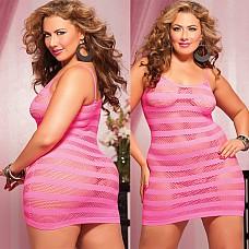 Розовое платье в полоску X  Маленькое короткое платье розового цвета пробуждающее желание и страсть.