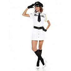 Костюм Военная авиация  Костюм состоит из:  · платья-рубашки · ремня · перчаток · галстука  Фуражка приобретается отдельно.