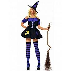 Костюм Ночная ведьмочка  Костюм состоит из:  · платья · шляпы
