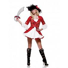 Костюм пирата Мисс Флинт  Костюм состоит из:  · платья · камзола  Шляпа приобретается отдельно.