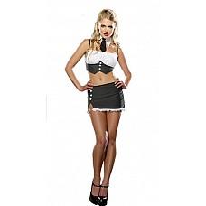 Костюм - секретарша  Костюм состоит из:  · воротничка · галстука · топа · юбки  ! Костюм поставляется без картонного вкладыша