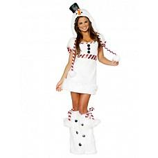Костюм Снеговик  Костюм состоит из:  · платья · гетр · головного убора