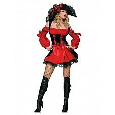 Костюм - средневековая пиратка  Костюм состоит из:  · платья  Шляпа приобретается отдельно.