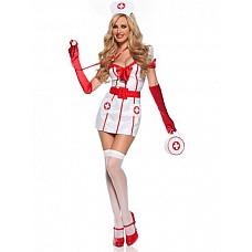Костюм Старшая медсестра  Костюм состоит из:  · платья · болеро · головного убора · ремня