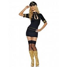 Костюм Стюардесса первого класса  Костюм состоит из:  · платья  Фуражка приобретается отдельно.