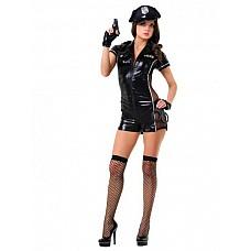 Костюм - эротический полицейский  Костюм состоит из:  · комбинезона шортами · манжетов · ремня · наручников · пистолета · чулок
