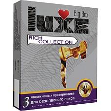 Презервативы LUXE №3  Big Box Rich Collection  Универсальный презерватив, обладающий одновременно высокой эластичностью и прочностью, что делает использование максимально безопасным.