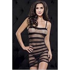 Платье сетка в полоску  Платье сетка в полоску