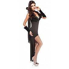 Костюм темного вампира  Костюм состоит из:  · платья · накидки с воротником · жилета · нарукавников