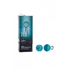 Вагинальный шарик соло STELLA I со сменным грузом бирюзовый  Вагинальный шарик соло STELLA I – набор из 2 вагинальных шариков весом 30 г и 40 г, силиконового одинарного держателя, который обеспечивает плотное и безопасное крепление шарика.