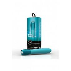 Вибромассажер классический CERES ORIG бирюзовый  Вибромассажер классический CERES ORIG - водонепроницаемый вибратор с 7 интенсивными режимами вибрации, бесшумный, с дизайнерской ручкой «под стекло», поверхность из высококачественного мягкого, гладкого, приятного на ощупь и гипоаллергенного силикона.