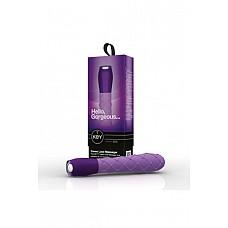Вибромассажер ажурный CERES LACE фиолетовый  Вибромассажер ажурный CERES LACE - водонепроницаемый вибратор с 7 интенсивными режимами вибрации, бесшумный, с дизайнерской ручкой «под стекло», поверхность из высококачественного мягкого, гладкого, приятного на ощупь и гипоаллергенного силикона с эксклюзивной ребристой текстурой.