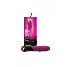 Вибромассажер рельефный VELA розовый  Вибромассажер рельефный VELA - водонепроницаемый вибратор с 7 мощными режимами вибрации, создаёт сильные резонации.