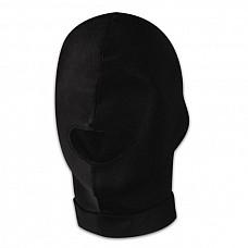 Черная эластичная маска на голову с прорезью для рта  Комфортная эластичная маска из материала с добавлением хлопка плотно прилегает к голове. Есть прорезь для рта. Глаза закрыты. Размер тянущейся маски универсальный.