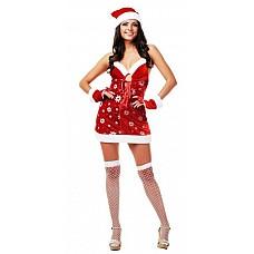 Костюм Веселая снегурочка  Костюм состоит из:  · платья  · нарукавников · ремня