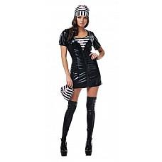 Костюм Преступница  Костюм состоит из:  · платья · топа · мешка · головного убора