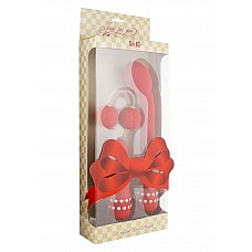 Массажер CRYSTAL MINI VIBE RED 10066TJ  Компактный вибромассажер красного цвета с дистанционным пультом управления.