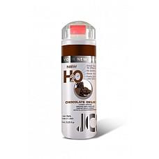 Ароматизированный лубрикант на водной основе JO Flavored Chocolate Delight , 5.25 oz (160 мл)  Ароматизированный лубрикант на водной основе JO Flavored Chocolate Delight - превосходный аромат шоколада и длительное скольжение.