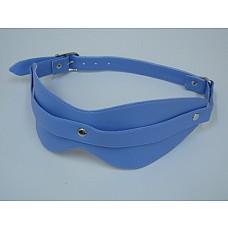 Маска на глаза из искусственной кожи голубая 5015-5  Голубая маска закрывает область глаз, помогает расслабиться и получать удовольствие.