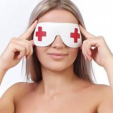 """Маска на глаза кожаная """"медсестра"""" 3088-3  Игривый образ дополняет маска 3088-3 медсестры."""